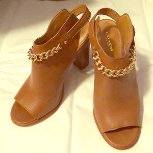 Wow 😲COACH peep toe Leather Shoes 👠
